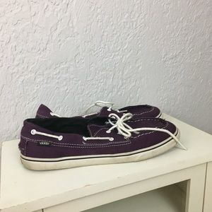 Vans off the wall boat shoes purple 9.5 casual